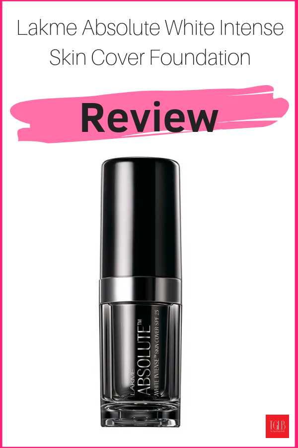 Lakme Absolute White Intense Skin Cover Foundation Review