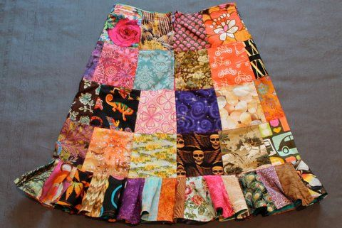 The Five Inch Patch Knee Length Ruffle Skirt by TheFiveInchPatch