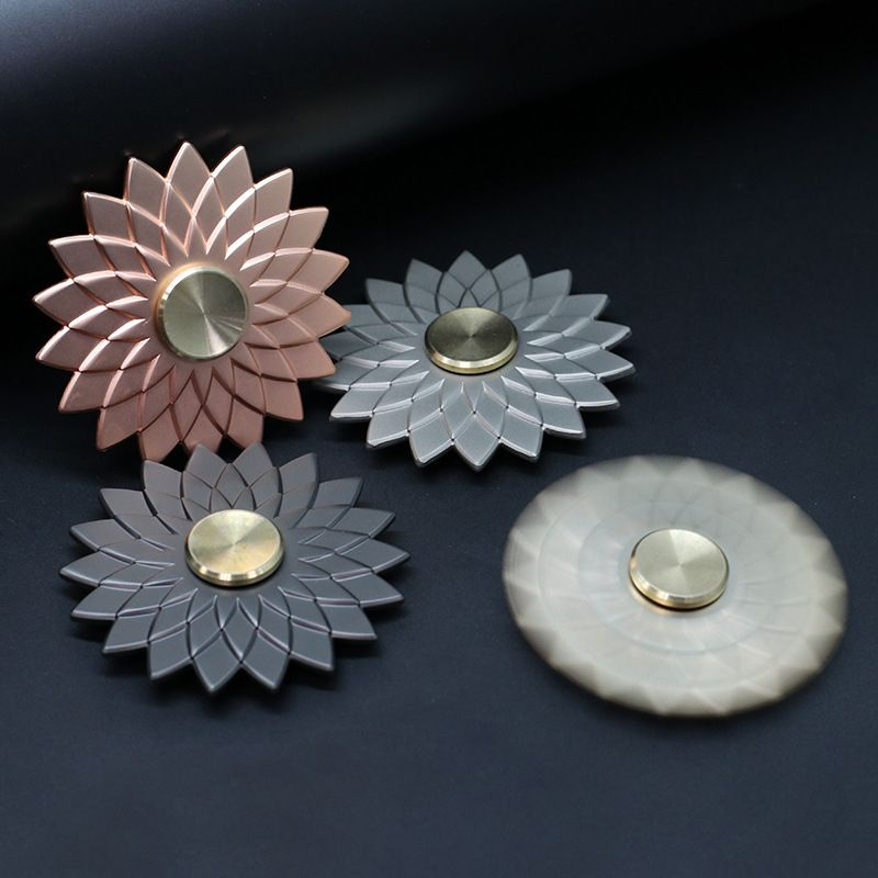 Edc lotus flower metal fidget spinner blackpinksilvergold buy edc edc lotus flower metal fidget spinner mightylinksfo