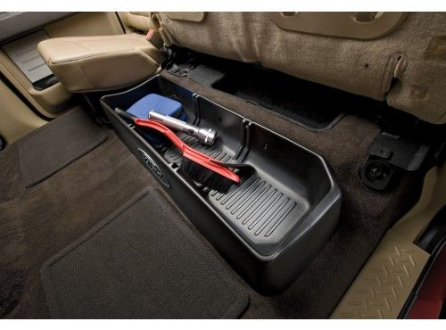 Cargo Organizer Supercrew For Use With Or Without Subwoofer Truck Accessories Ford Truck Accessories Ford Trucks