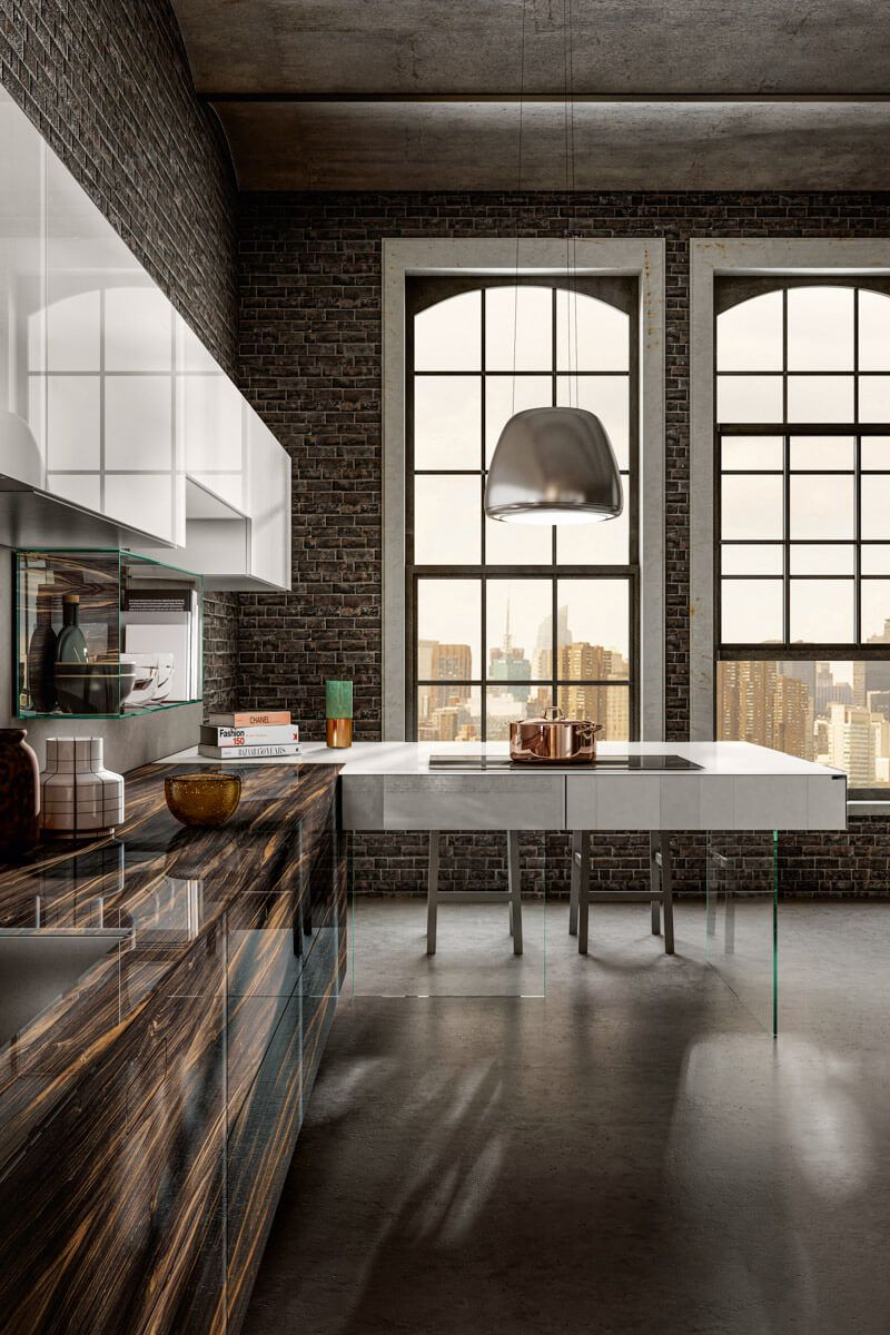 Kuhnya Lago 36e8 Wood Xglass Kitchen In 2020 Dining Table