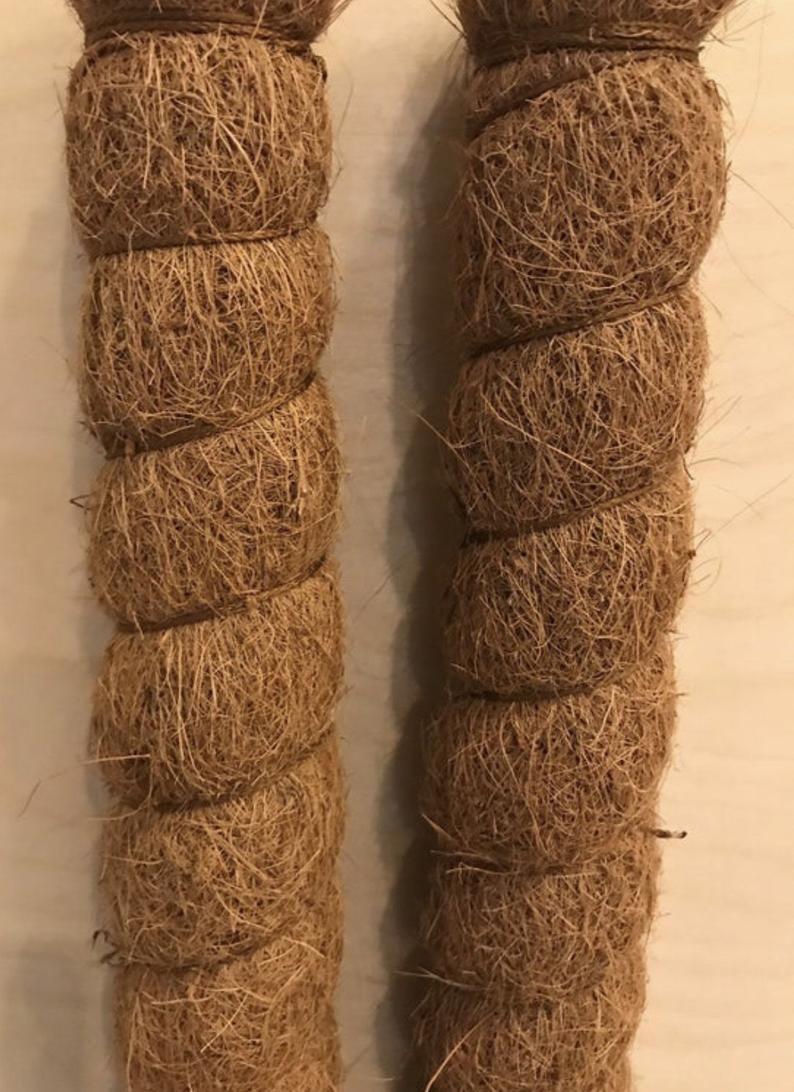 Coco fiber plant climbing pole handmade 1 2 3 etsy