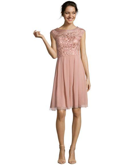 Niente Cocktailkleid Mit Muster Aus Zierborten In Rose Online Kaufen 9260031 Cocktailkleid Kleid Altrosa Kleider