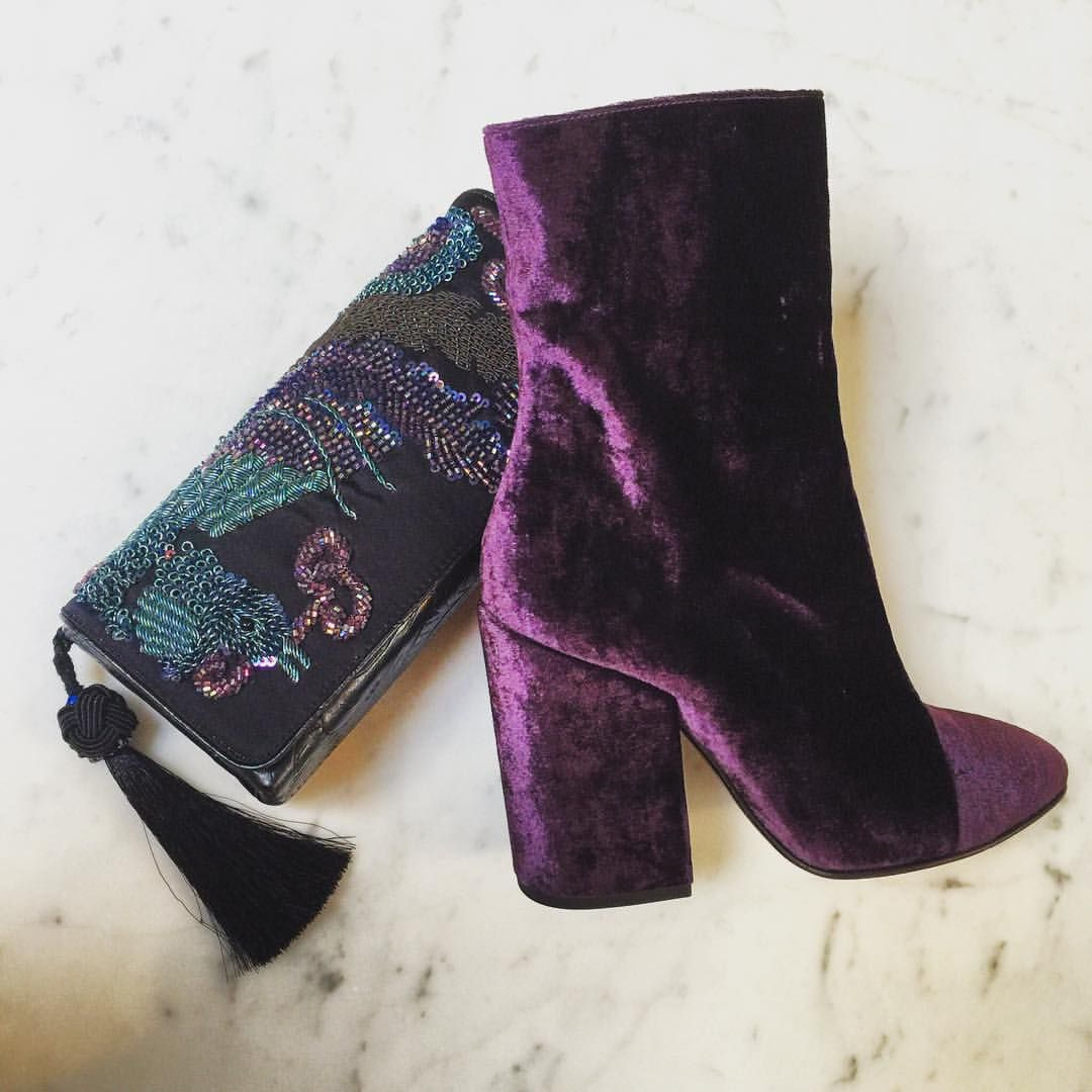 MAXFIELD LA - PURPLE RAIN || Dries Van Noten Velvet Boots + ...