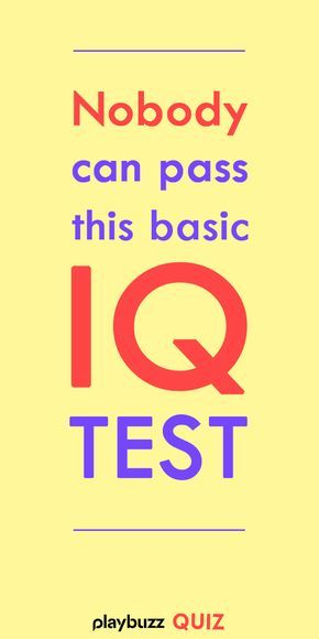 Nobody Can Pass This Basic IQ Test in 2020 | General ...