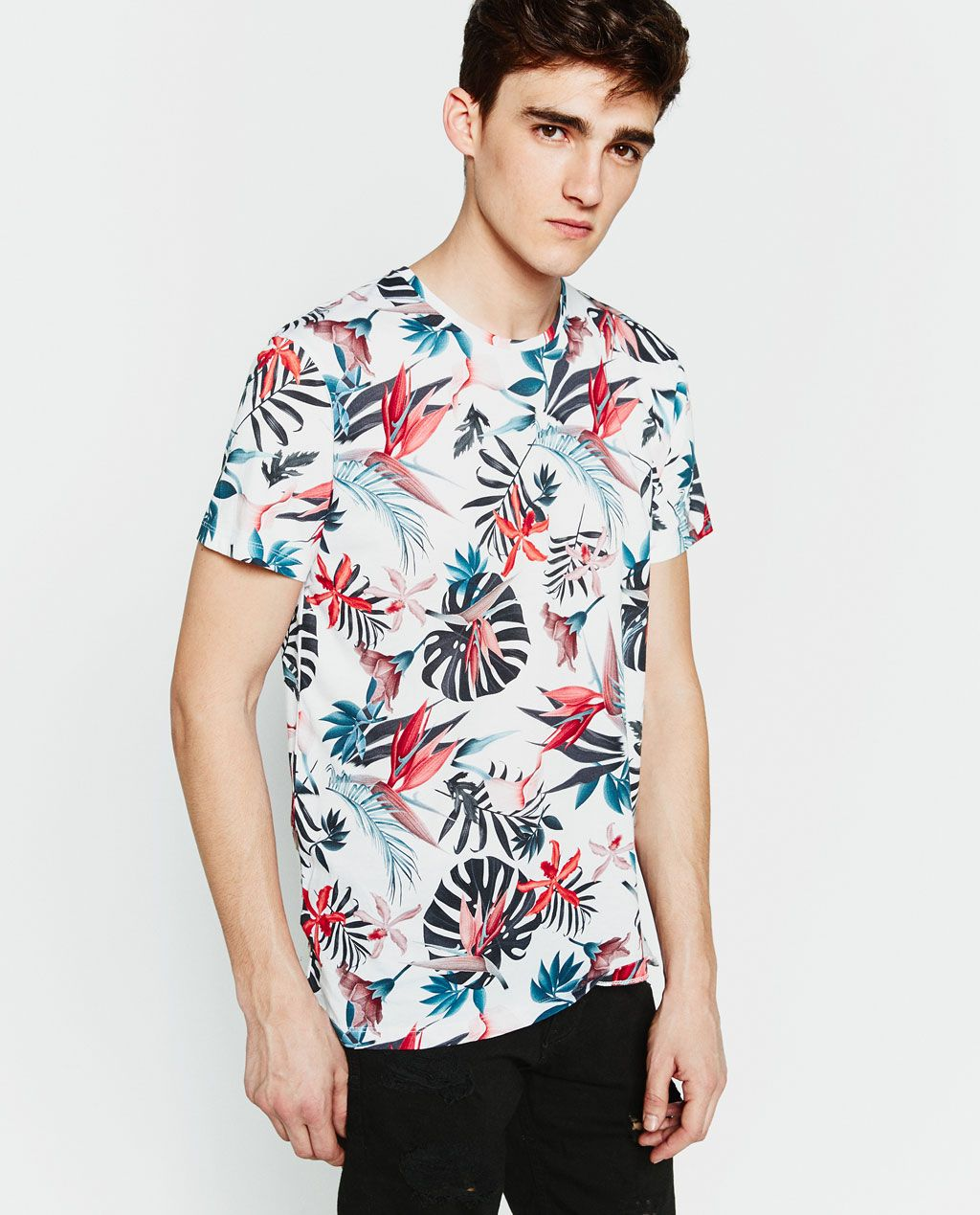 Image 1 of FLOWERS T SHIRT from Zara | int 4 ss16 in 2019