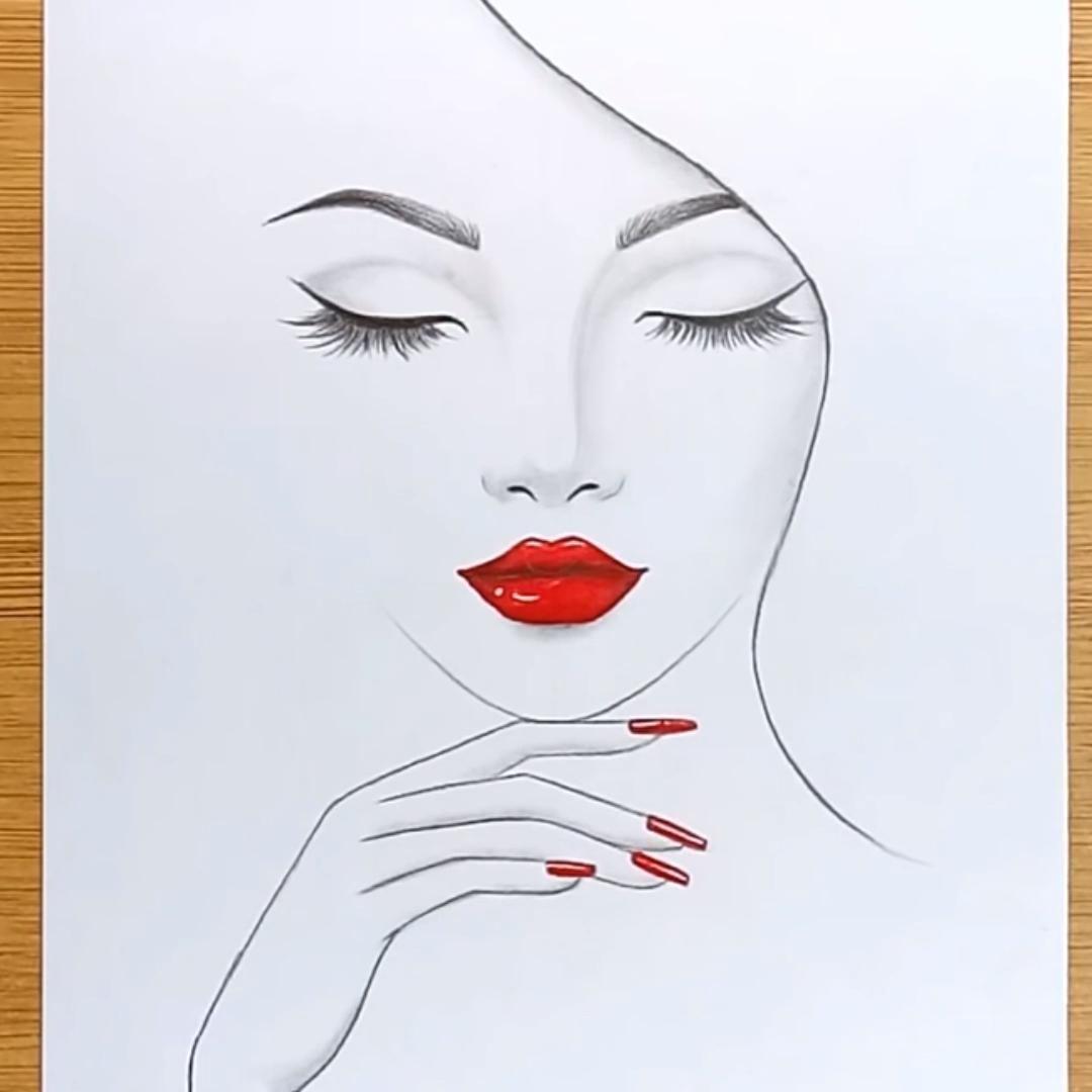 Pencil Sketch Of Beautiful Girl Art Sketches Beautiful Girl Pencil Sketch Art Drawings Sketches Simple Art Drawings Simple Drawings