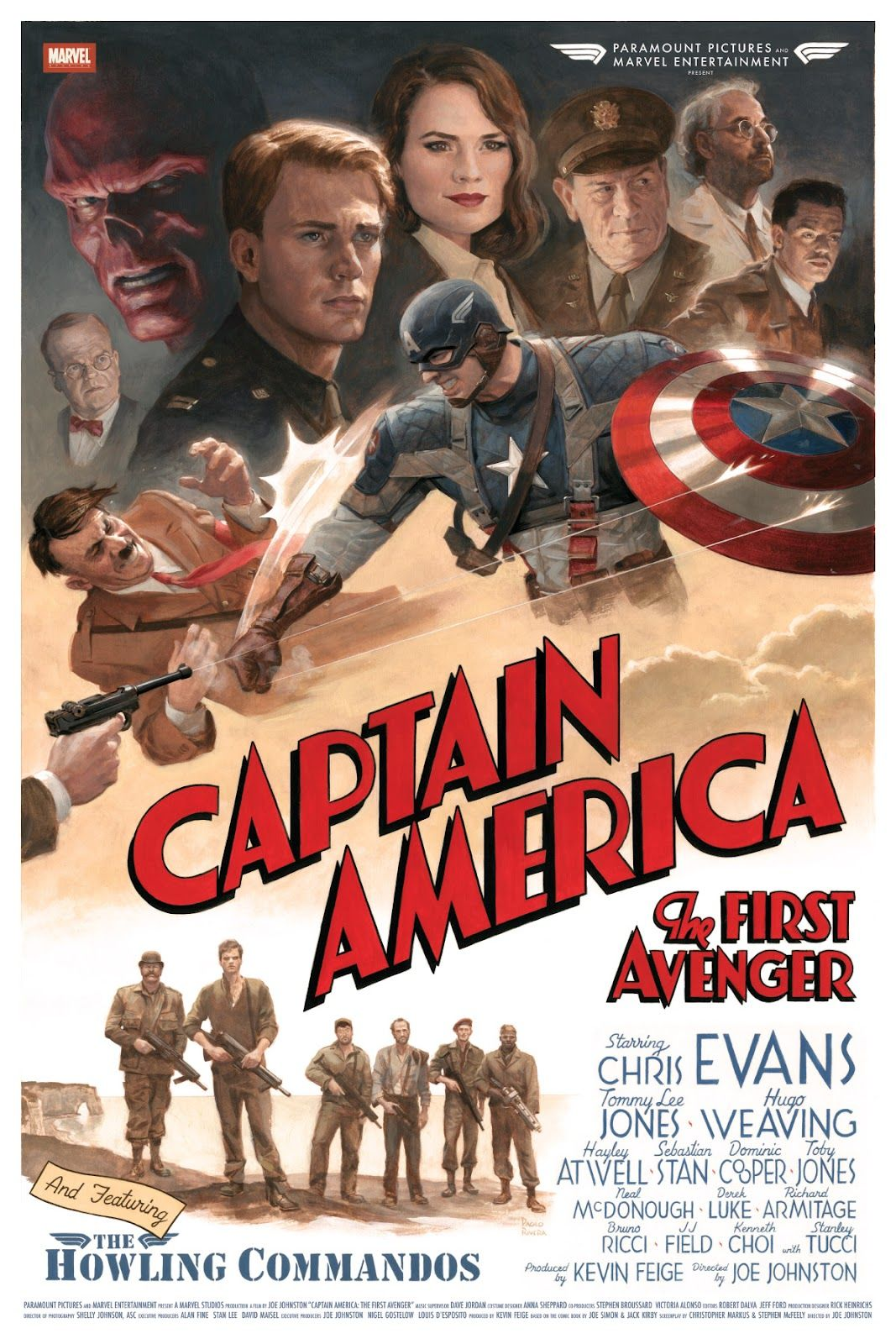 Paolo Rivera Captain America Trilogy Posters