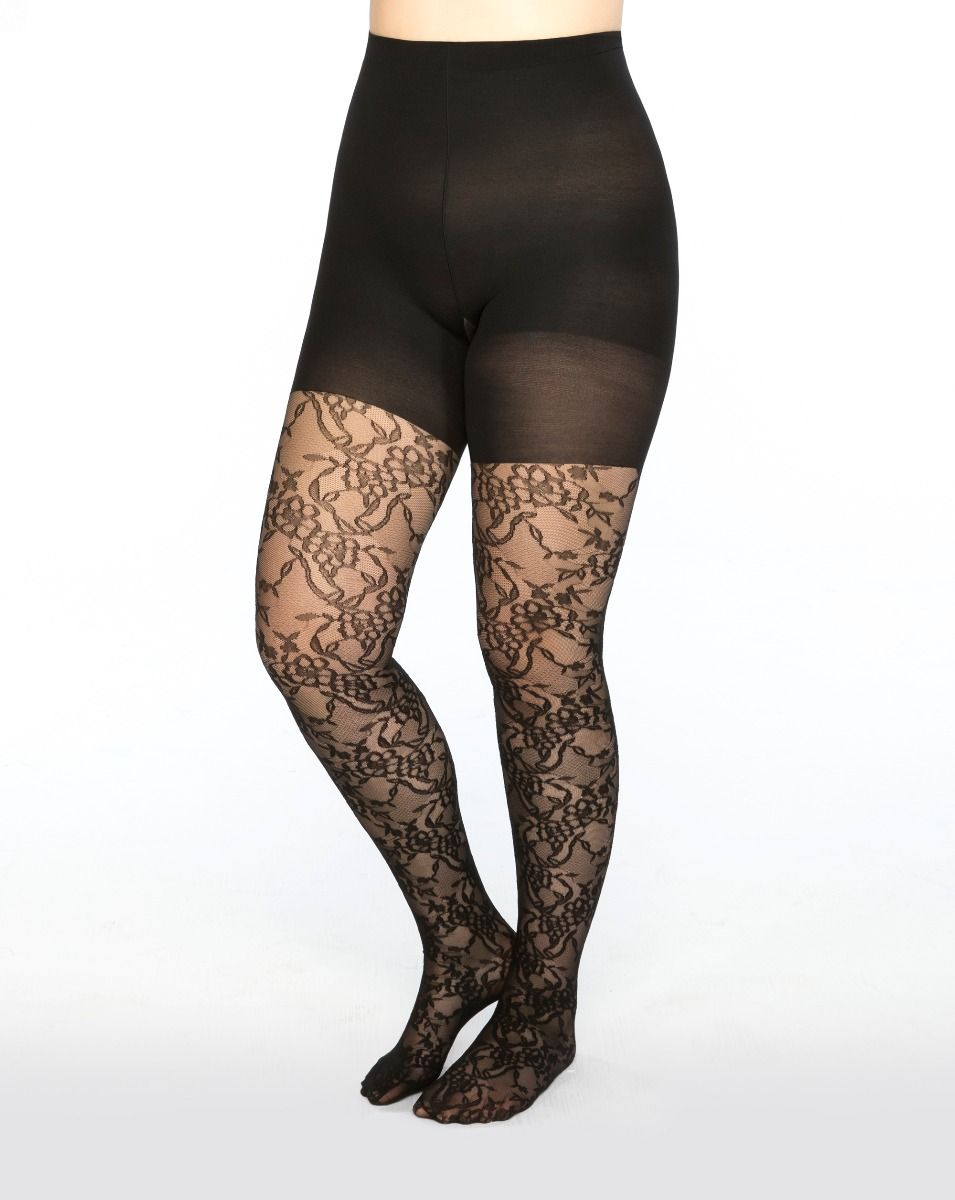 521f5a0e0d Fishnet Floral Mid-thigh Shaping Tights in 2019 | Products | Shaping ...
