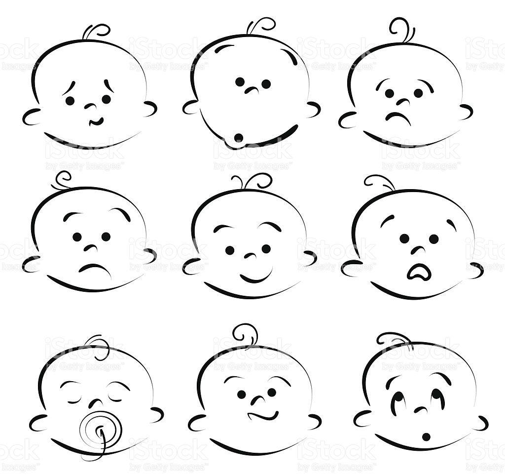 Cartoon Baby Gesicht Zeichentrickgesichter