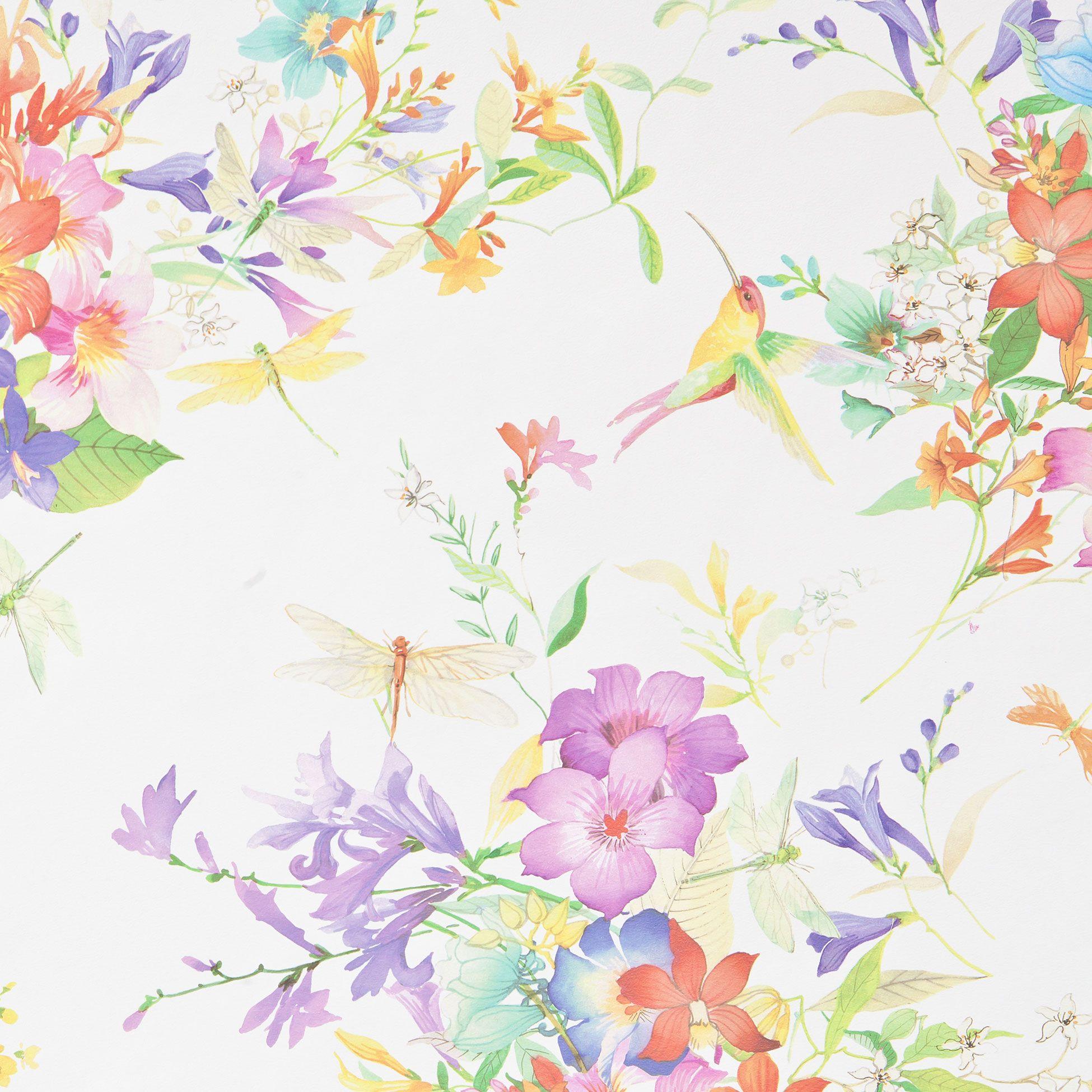 Hummingbird wallpaper zara home hummingbird wallpaper for Wallpaper zara home