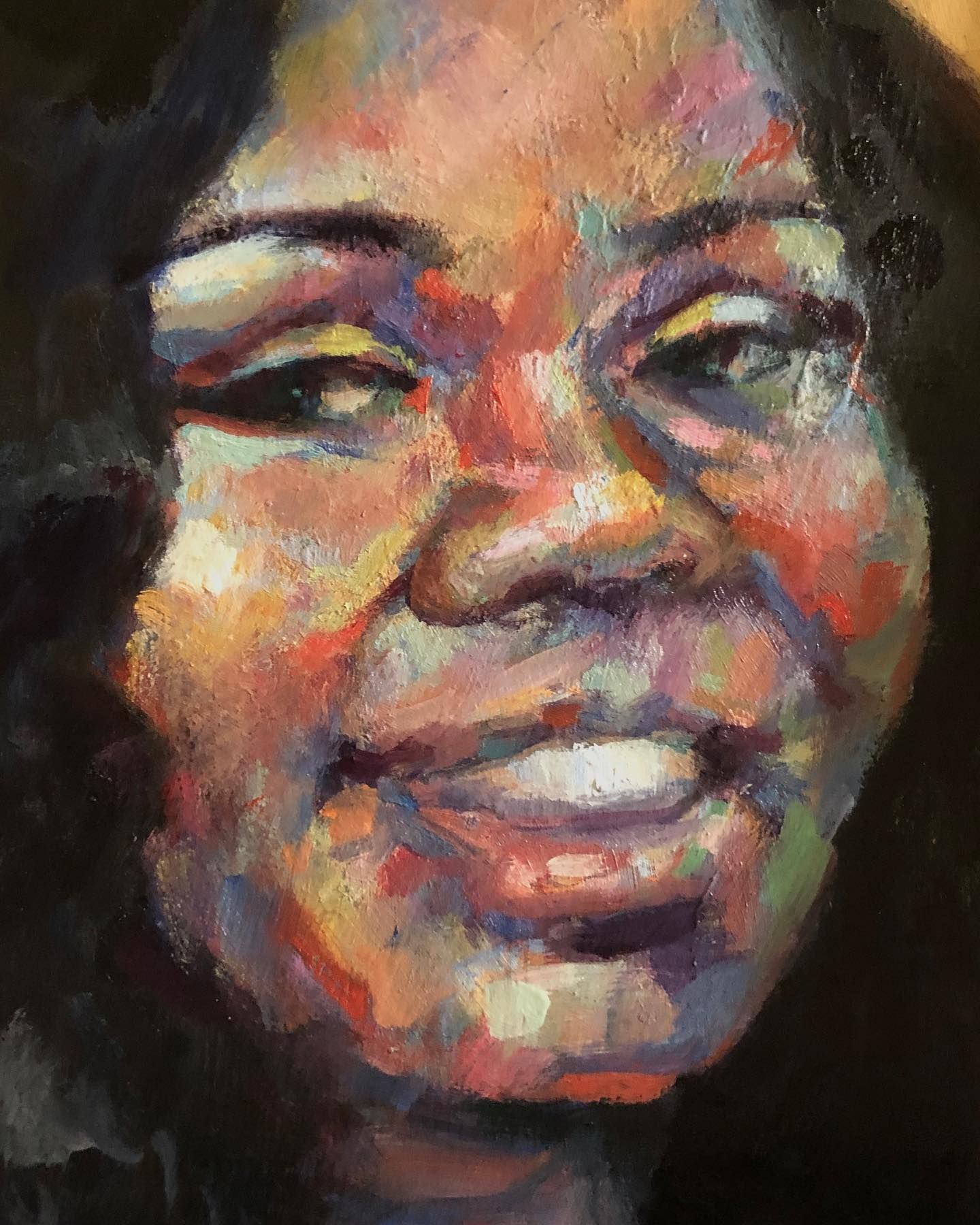 One Small Memorial Among Many For Breonna Taylor The Act Of Painting An Individuals Portrait Whose Life Was Ended So Tragica In 2020 Portrait Breonna Taylor Painting
