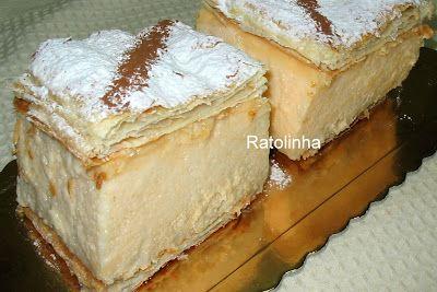 Ratolinha - Receitas de Culinária, Ponto de cruz, Fotos...: Pastel Mil Folhas