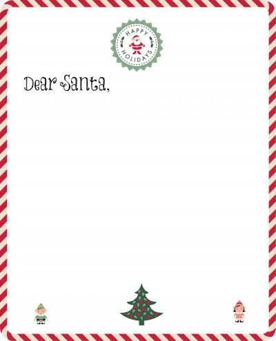 Make your Christmas letter writing a cinch! Free Santa Letter - christmas letterhead templates word