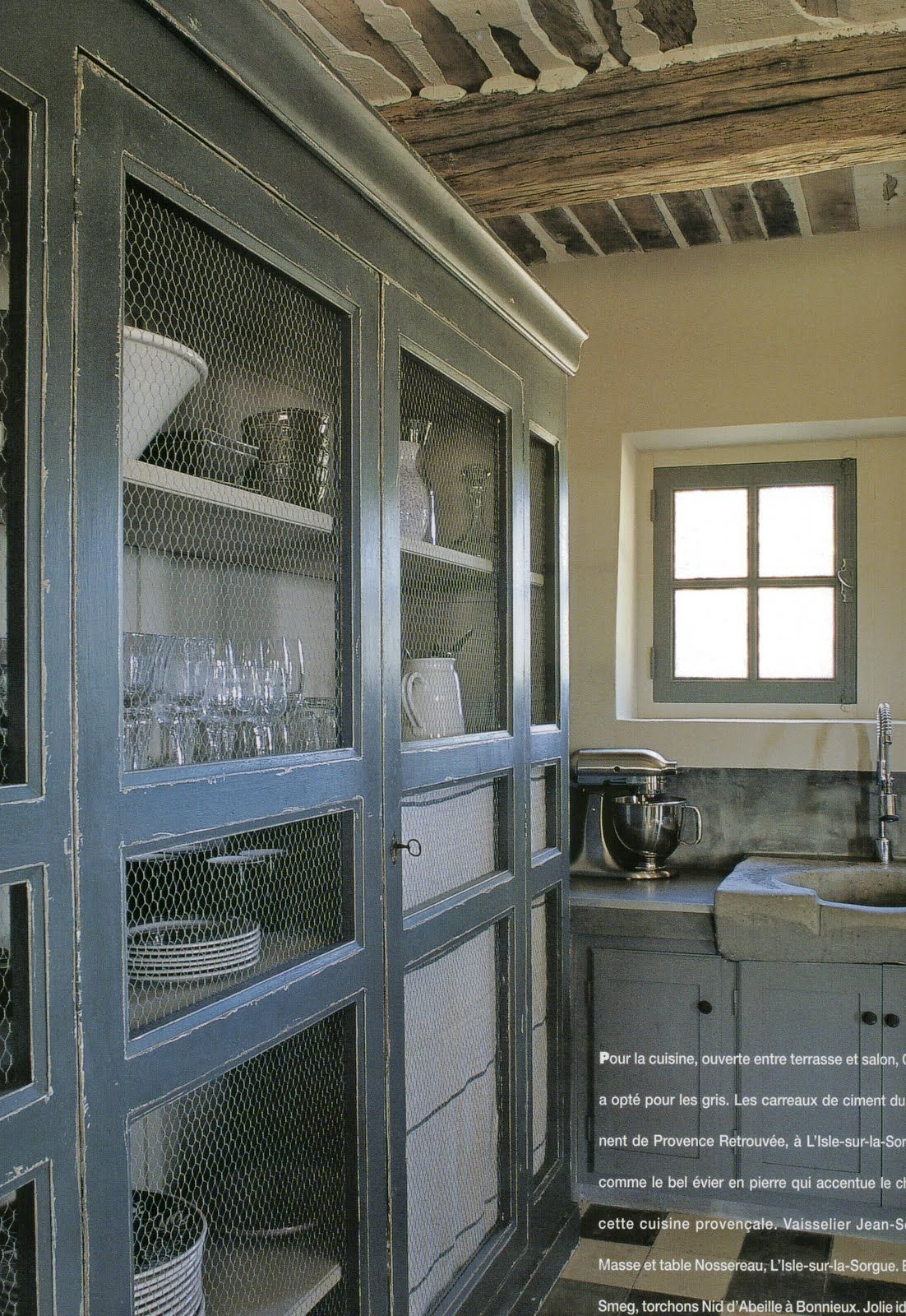Aesthetically Thinking Dinner Anyone French Farmhouse Kitchen Chicken Wire Cabinets New Kitchen Cabinets