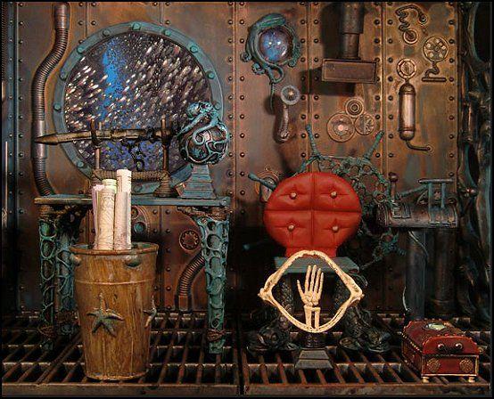 Charming Steampunk Decorating Ideas   Victorian Punk Rock Style Creates The Steampunk  Theme   Steam Punk Industrial Style Decorating Ideas   Steampunk Gears Decor  ...