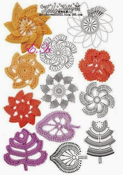 Letras e Artes da Lalá: Crochê irlandês - irish crochet (pinterest ...
