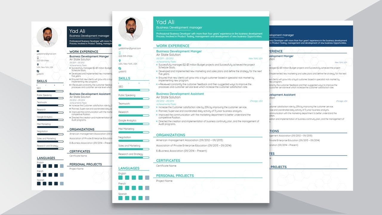 How To Create And Design Functional Resume In Microsoft Word 2016 Functional Resume Microsoft Word Resume Template Microsoft Word 2016