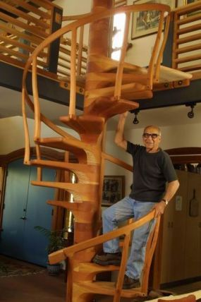 Sam Maloof spiral staircase | Stairs in 2019 | Sam maloof