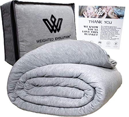 Amazon Com Weighted Evolution Cooling Weighted Blanket Bonus