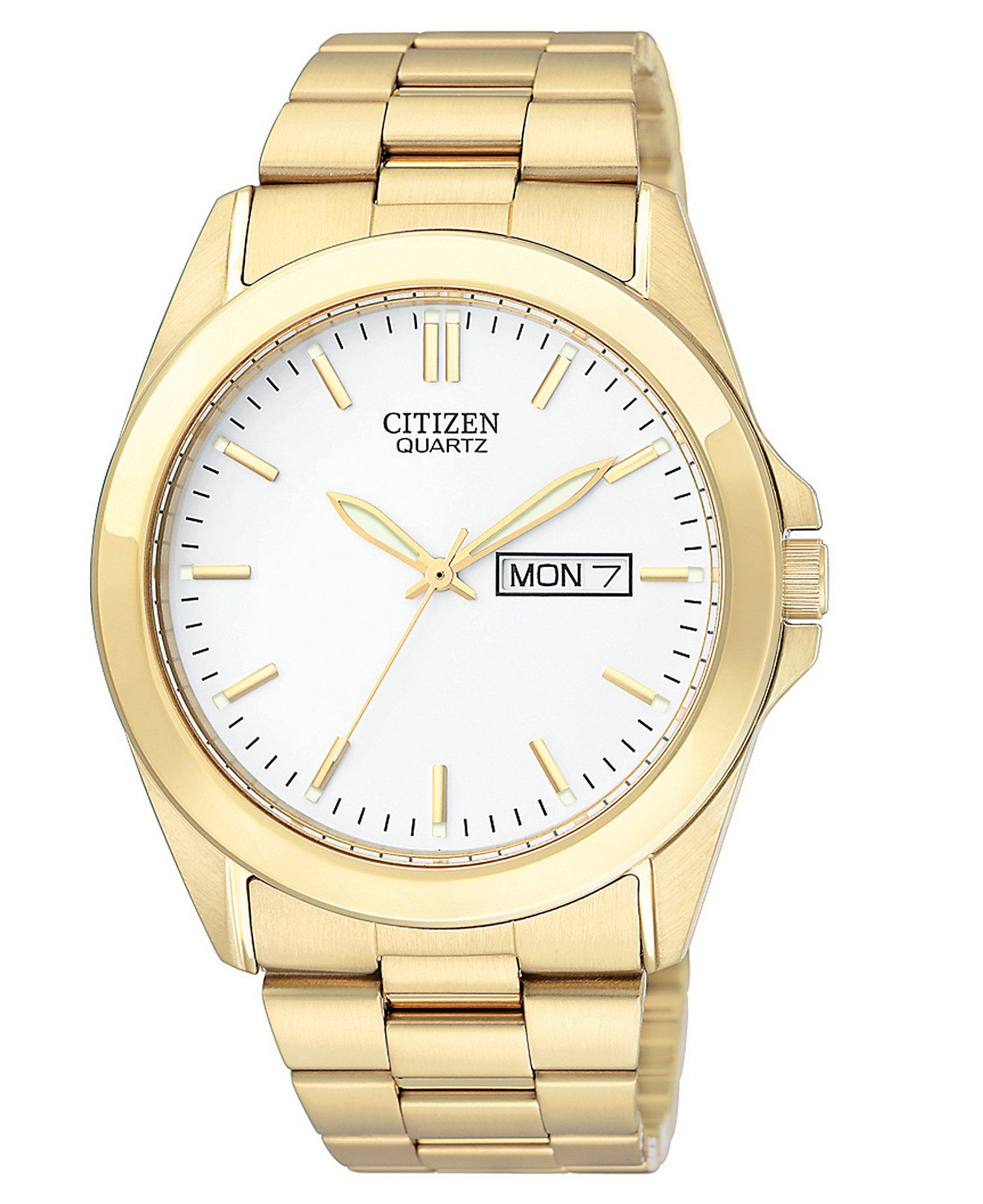 Citizen Men's Goldtone Stainless Steel Bracelet Watch 41mm Bf058251a   Watches