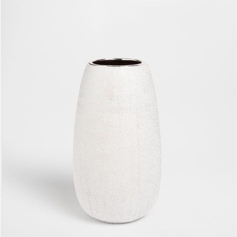 Vase céramique couleur argentée vases décoration zara home france