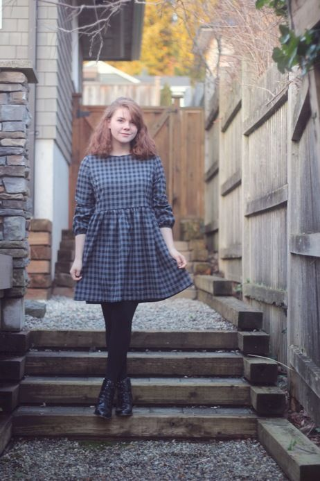 Simple and cute at the same time. This checkered vintage style dress is just up our alley