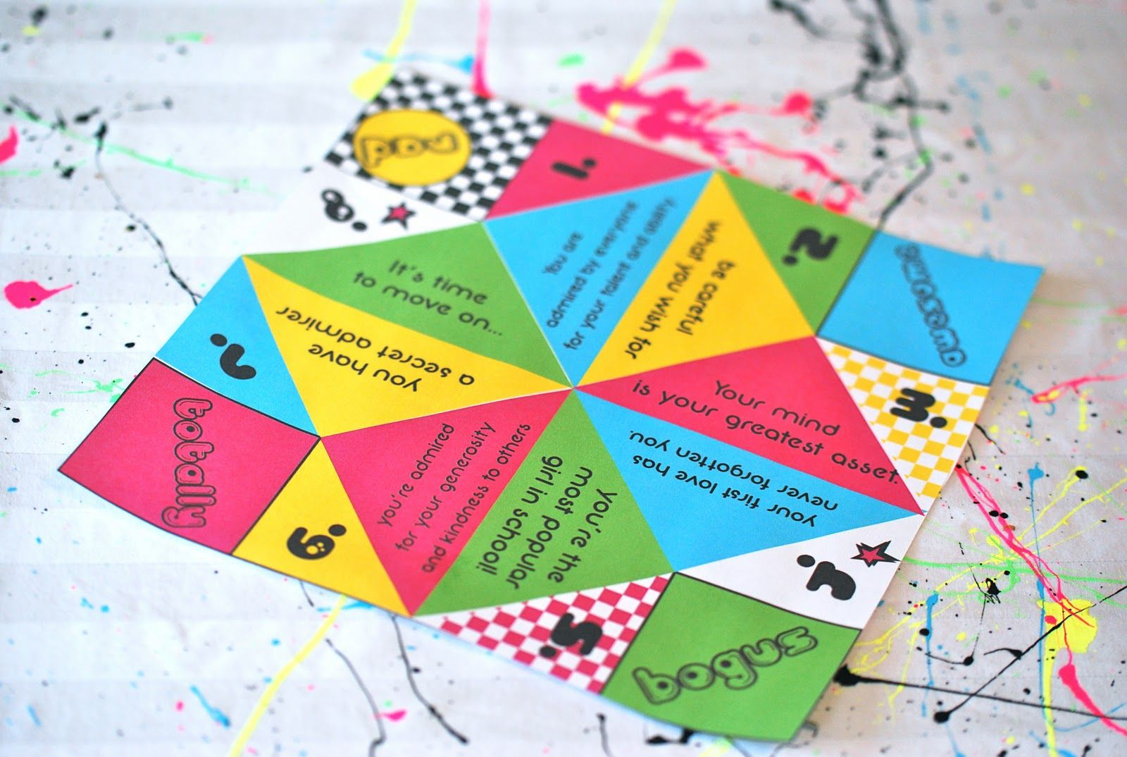 Cootie Catcher Party Favor Tangarang Deco Fete Pinterest Favors