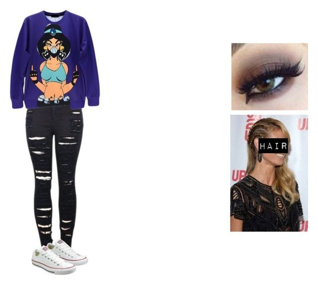 """""""Untitled #556"""" by bigbowsandnikepros ❤ liked on Polyvore featuring mode, 2LUV en Converse"""