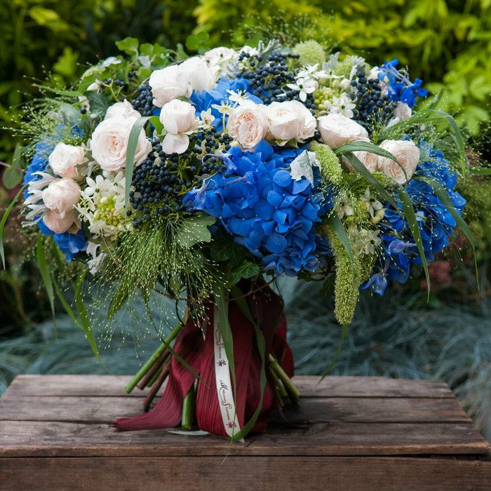 Bursting Blues Roses Bouquet - Moyses Stevens