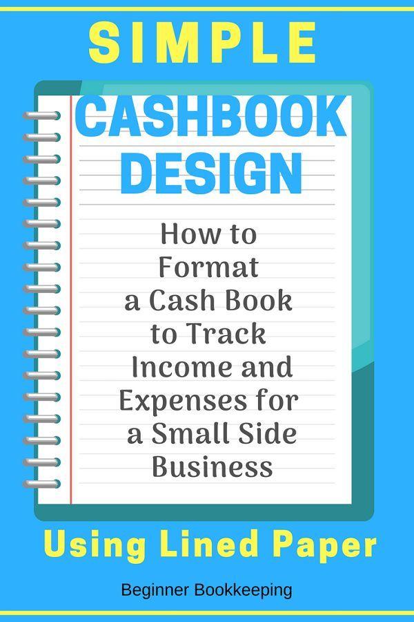 Simple Cash Book Format Design for Quick Money Tracking Cash