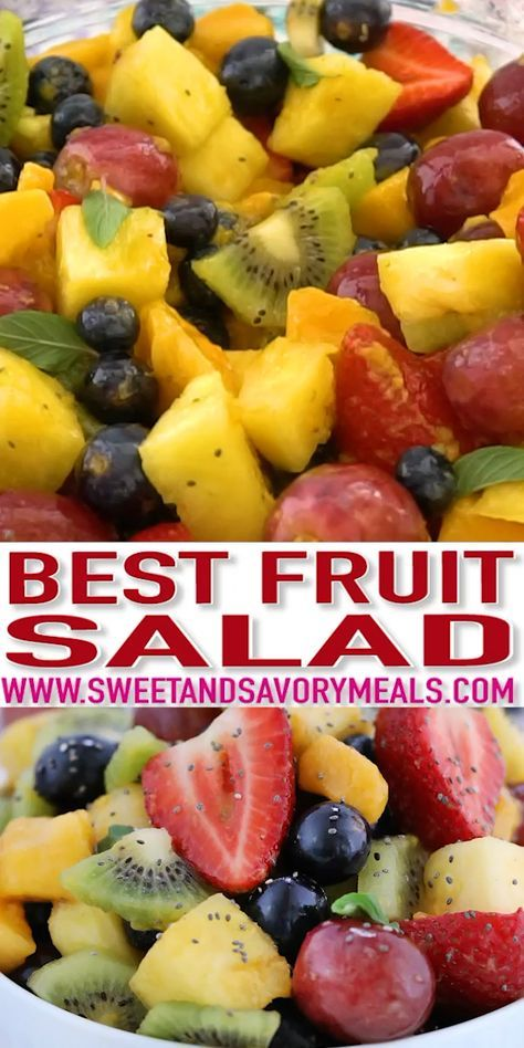 Fruit Salad Recipe with Honey Lime Dressing - Swee