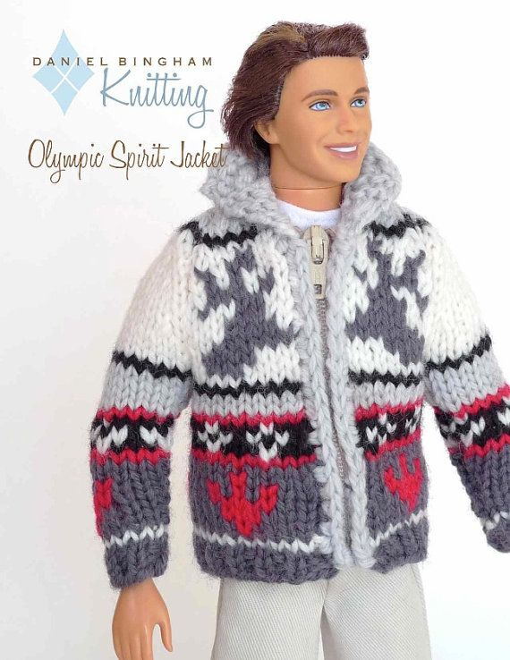 Knitting pattern for 11 1/2 doll Barbie Olympic by DBDollPatterns ...