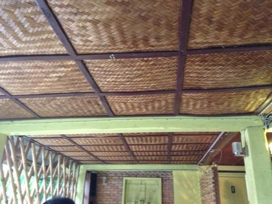 Bamboo Mat Ceiling Mft In 2019 Bamboo Ceiling Porch