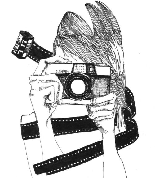 camera girl  Tumblr  Illustration  Illustration Camera