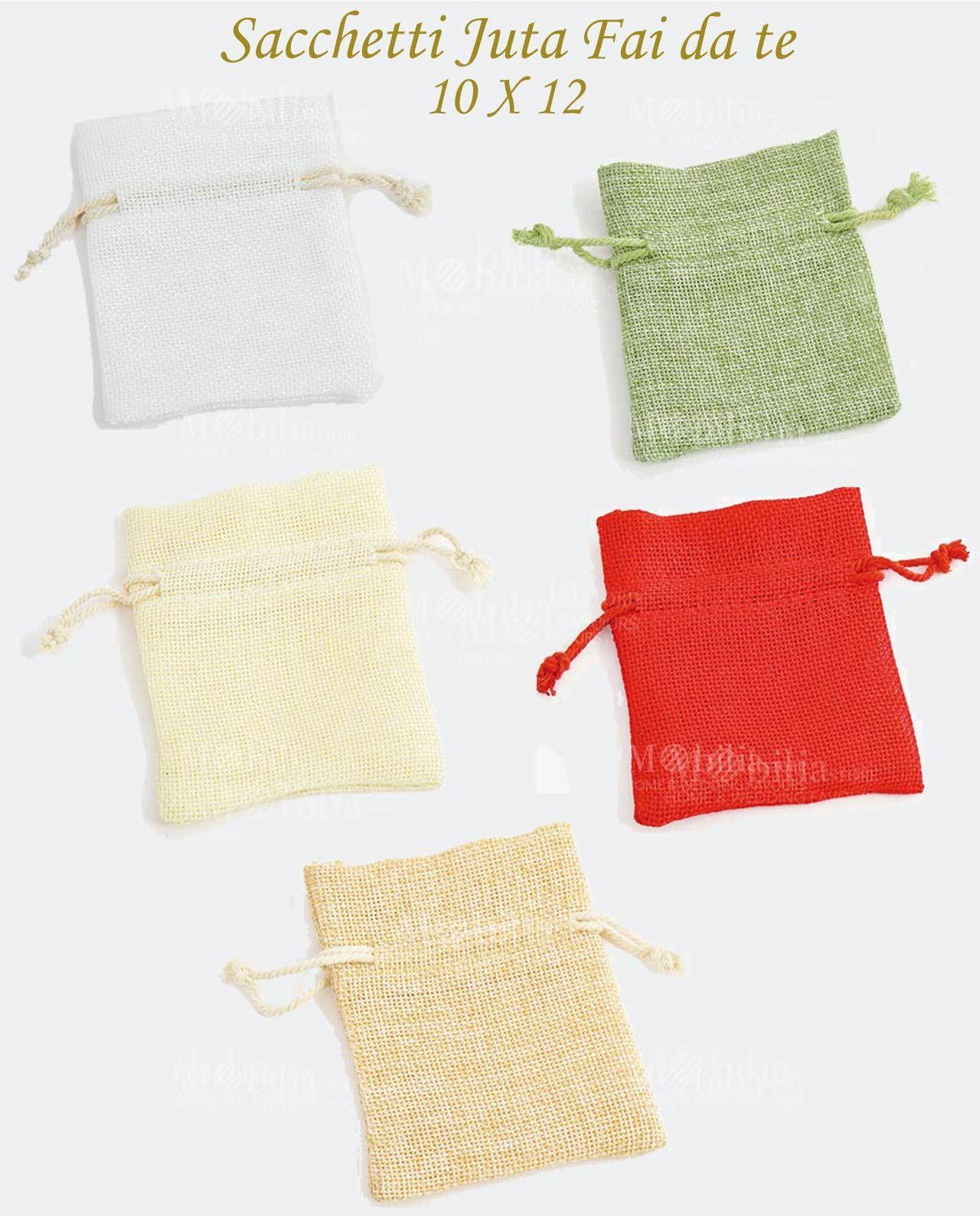Eccezionale Sacchetti Portaconfetti Juta Fai Da Te 10 X 12, disponibili in 5  KM15