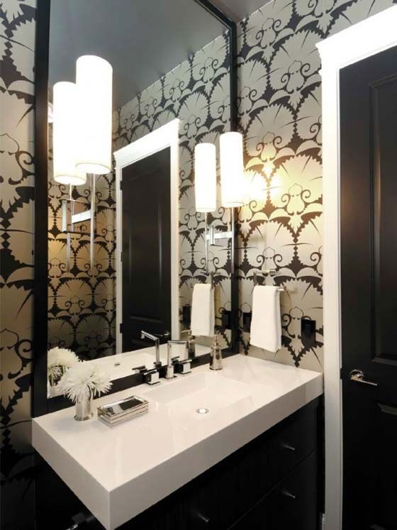 Interior Design Style: Art Deco bathroom/powder room  Characteristics:  Roaring 20's;