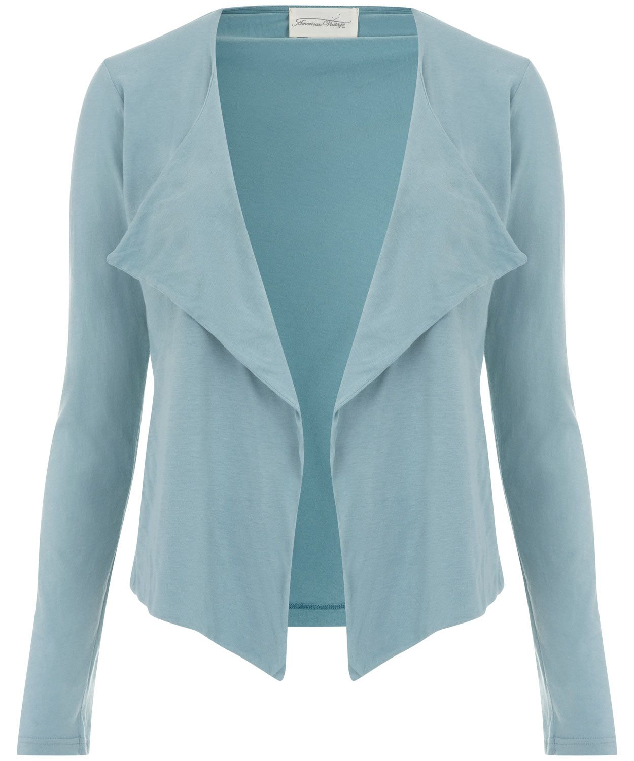 Turquoise Waterfall Jersey Jacket, American Vintage. Shop the ...