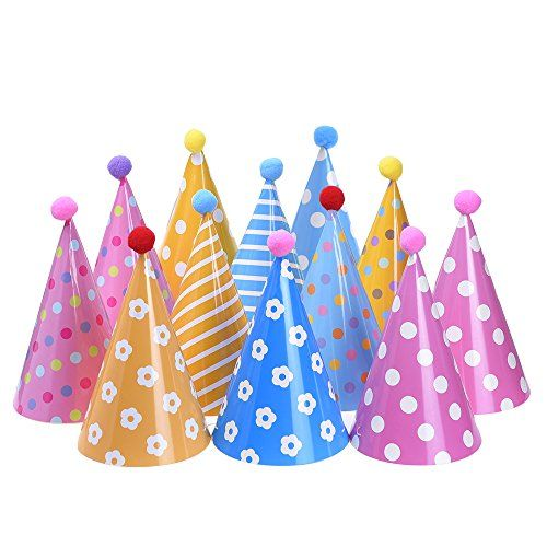 Blulu Birthday Party Hats For Kids And Adults 12 Pieces