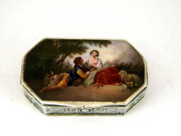 ANTIQUE AUSTRIAN SILVER & ENAMEL BOX AUSTRIA c. 1910 John Bull Antiques www.antique-silver.co.uk New Bond Street, London, UK Antique Silver & Giftware