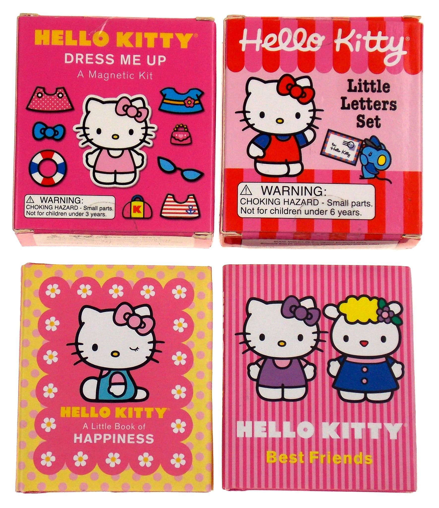 Lot 4 Hello Kitty Happiness Best Friends Little Letters Set Dress Me Up  Magnets