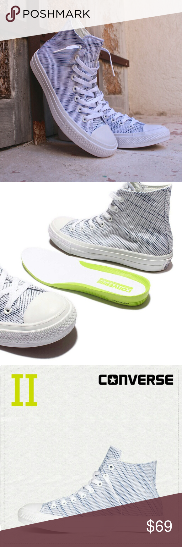 Converse Lunarlon Insole For Sale Nwt Converse Chuck Ii 2 High Top Nike Lunarlon Nwt With Images