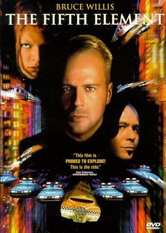 Luc Besson Bruce Willis The Fifth Element Art Movie Poster 18x12 36x24 40x27/""