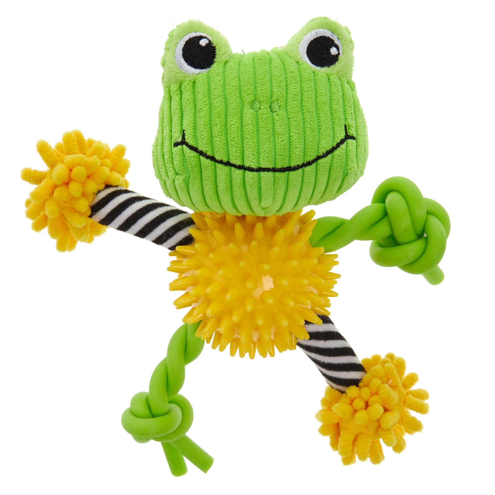 Puppies R Us Frog Noodle Dog Toy Plush Squeaker Puppies R Us