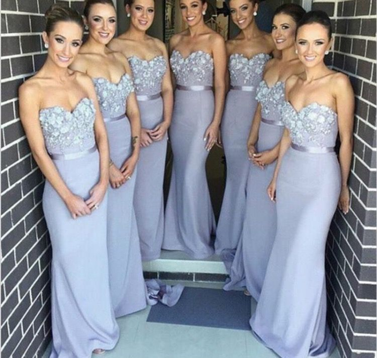 Periwinkle bridesmaid dresses. Love he Color it's perfect! Love ...