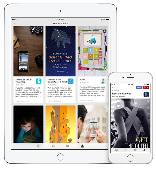 Aiming to Ease App Discovery, Apple Pairs With Pinterest