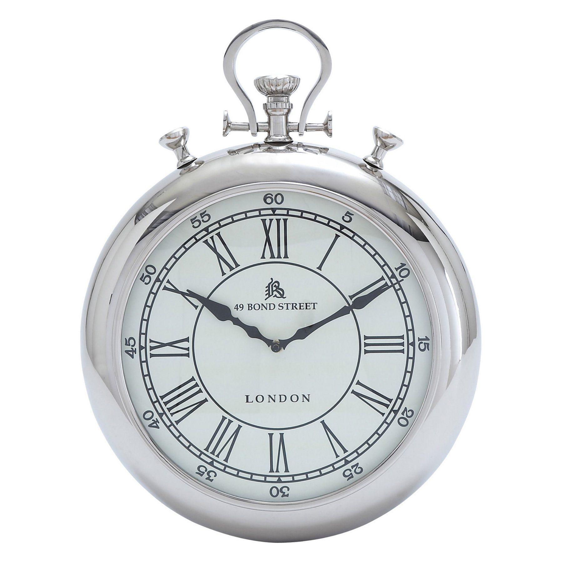 Decmode Metal Stopwatch Wall Clock