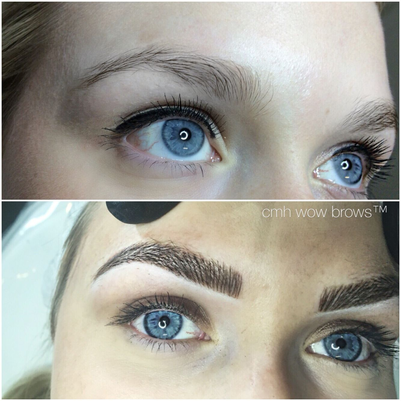 Natural eyebrow tattooing hair stroke feather touch for Eyebrow tattoo men