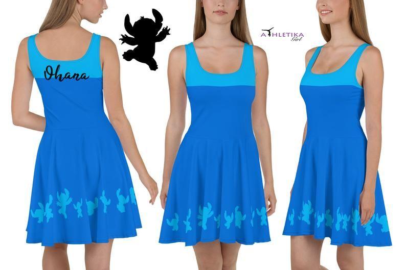 3XL Lilo Hawaiian Dress Disney Inspired Women Sport Mesh T-Shirt XS