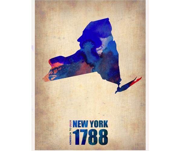 NY Watercolor Print